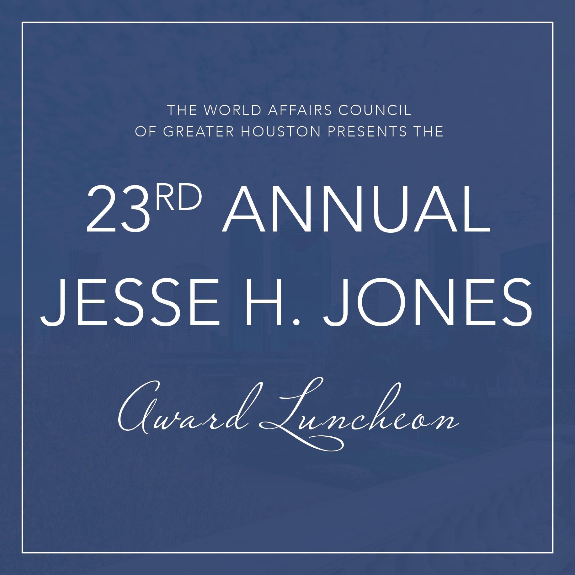2021 Jesse H. Jones Award Luncheon Logo